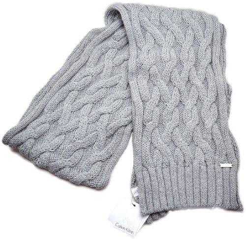 Calvin KleinCalvin Klein Women's Cable Chunky Knit Scarf (Grey)