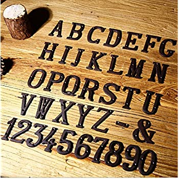 "3"" Vintage Decorative Cast Iron Metal Alphabet Letters Wall Sign Hanging Address Name Sign Letter (I)"
