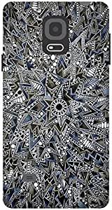 The Racoon Lean printed designer hard back mobile phone case cover for Samsung Galaxy Note 4. (Mandala)