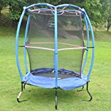 HLC Junior Outdoor Garden Childrens/Kids Bouncy Trampoline & Safety Protective Net Enclosure Blue, Best Christmas Birthday Gift