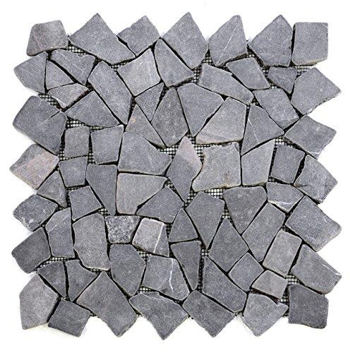 divero-9-matten-33-x-33cm-marmor-naturstein-mosaik-fliesen-fur-wand-boden-bruchstein-grau