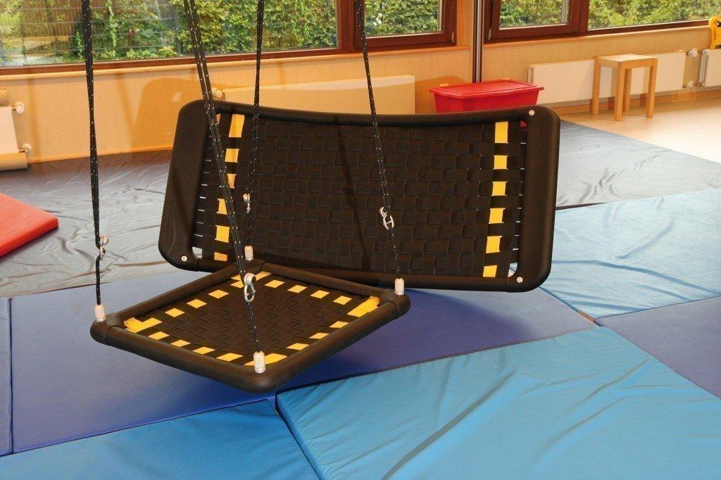 2er Set Therapieschaukeln – TherapiePlus M + PlattformPlus S12L rechteckig / Farbe: schwarz mit gelben Orientierungsstreifen online bestellen