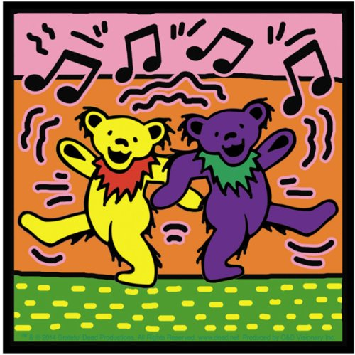 Licenses Products S-7904 Grateful Dead Dancing Bears On Sticker