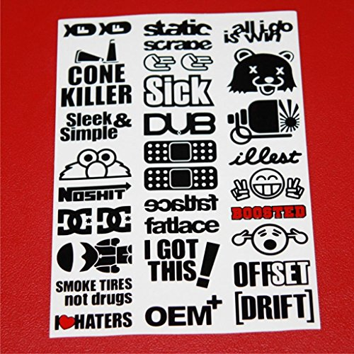 Sticker Remote Control Die Cast Rc Decal Buggy Truggy Traxxas Racing Drift Nos Stig Turbo Stance Lower Drag Rally For Most Rc Cars