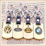Volkswagen Schlüsselanhänger Keychain Gold