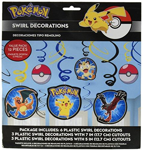 Napkins Pokemon Pikachu Swirl Decorations