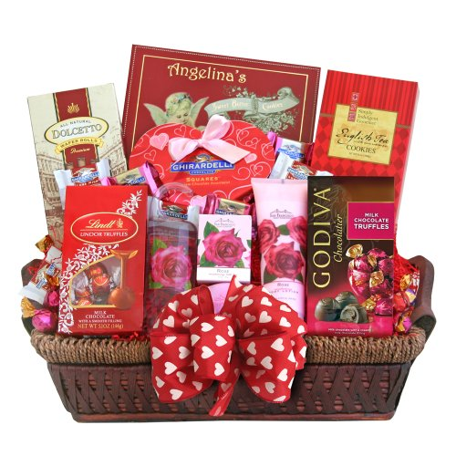 California Delicious Valentines Spa Gift Basket