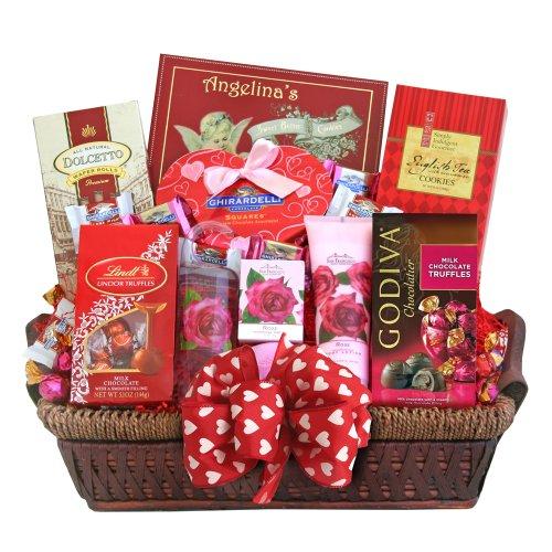 California Delicious Valentines Spa Gift Basket