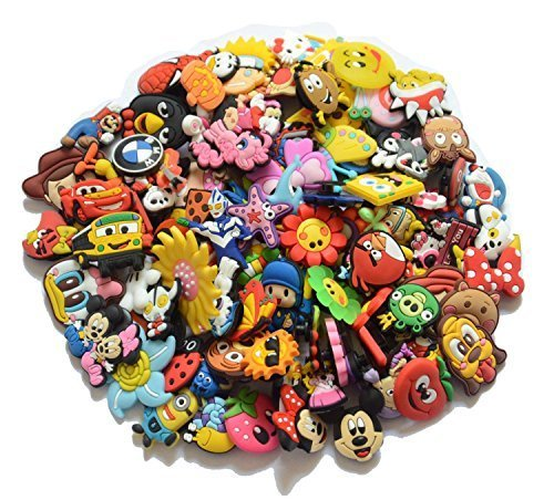 Buy Cheap 100pcs PVC Different Shoe Charms for Croc & Bracelet Wristband Kids Party Birthday Gif...