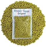 Gold Coloured sugar dragees 30g for cake and cookie decorations