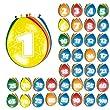 Ballon bunt Luftballons Zahl 30 Geburtstag 8 St. Deko Ballons Party