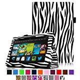 Fintie Amazon All New Kindle Fire HD 7 inch Slim Fit Folio Case with Auto Sleep / Wake Feature (will only fit All New Kindle Fire HD 7 2013 Model) - Zebra