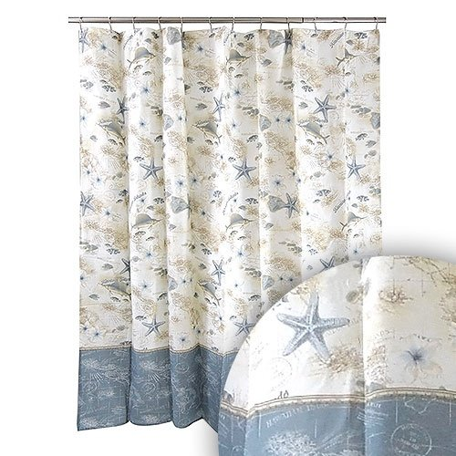 Tommy Bahama Blue Ivory Hawaiian Islands Maps Ocean Shower Curtain Shower Curtains Outlet