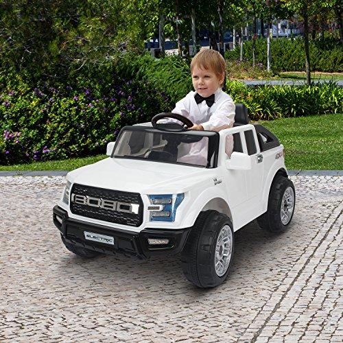 Voiture/véhicule électrique pour enfant 2 moteurs 12V 2.5-5km/h phare musique blanc neuf22