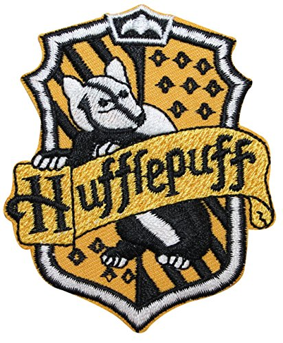 Hufflepuff Hogwarts' House Crest Harry Potter Embroidered Iron On Applique Patch
