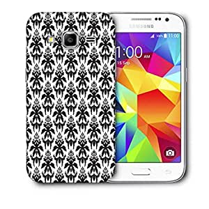Snoogg Dark Black Pattern Printed Protective Phone Back Case Cover For Samsung Galaxy CORE PRIME
