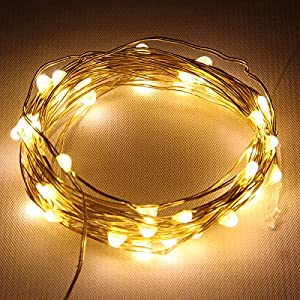 Amazon.com: Starlight 25ft LED String Lights - Gold Flexible Wire: Home Improvement