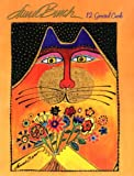 Laurel Burch [ASN34632] Greeted Note Card Assortment by Leanin' Tree - 12 cards featuring a full-color interior and colorful envelope