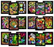Super Pack of 18 Fuzzy Velvet 8x10 Inch Posters (Creative Edition)