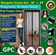 Meiz Magnetic Screen Door,Mesh Curtain With Full Frame Velcro,Keeps Bugs Out,Lets Fresh Air In,Toddler And Pet Friendly,Fits Door Up To 34\