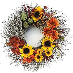 Sunflower Festival Door Wreath