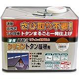 ニッペ 油性塗料 高耐久シリコントタン屋根用こげ茶 7kg