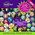 Art Nouveau Glass Pendant Jewelry Making Kit + Make Your Own Pendants for Girls, Beginners, Teens and Adults + Makes 6 Pendants, Includes All the Jewelry Supplies Needed to Get Started