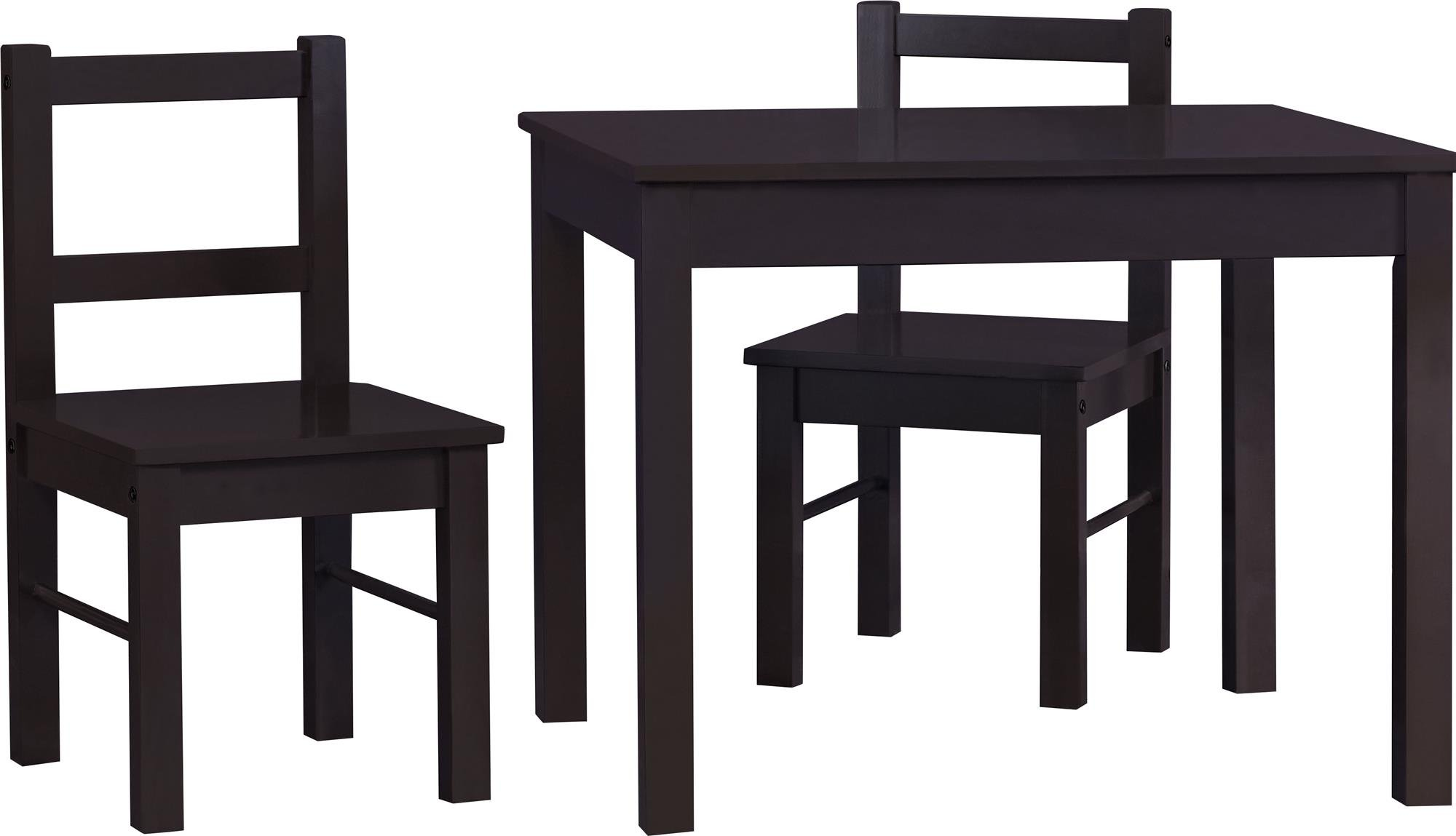 cosco hazel kids table and chairs set espresso ebay. Black Bedroom Furniture Sets. Home Design Ideas