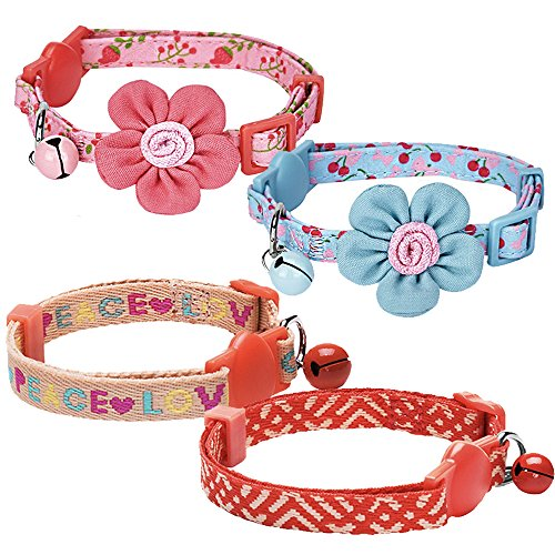 blueberry-pet-pack-of-2-holiday-cat-collars-lovely-cherry-and-floral-prints-adjustable-breakaway-sma