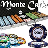 Set of 500 Monte Carlo 3-Tone 14 Gram Poker Chips with Aluminum Case by Brybelly