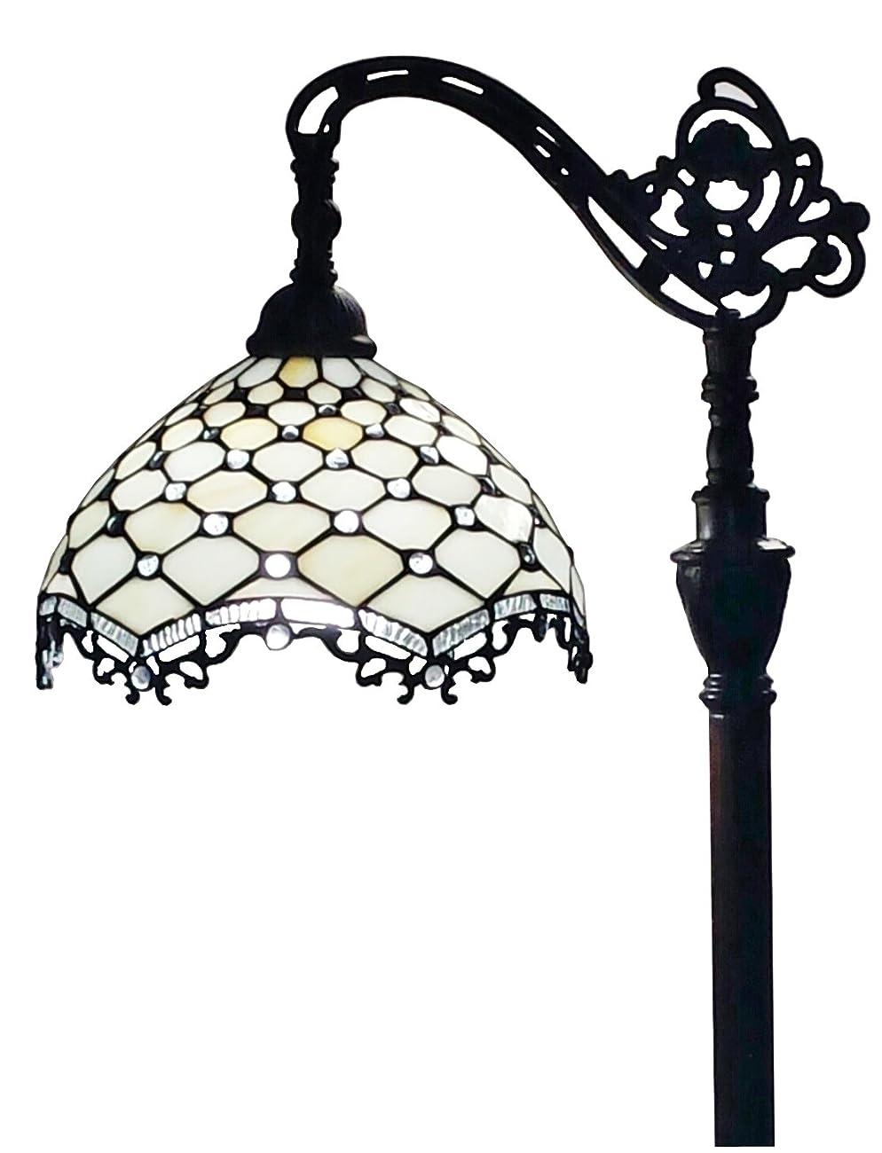 Amora Lighting AM122FL12 Jeweled Reading Floor Lamp 62 In 0