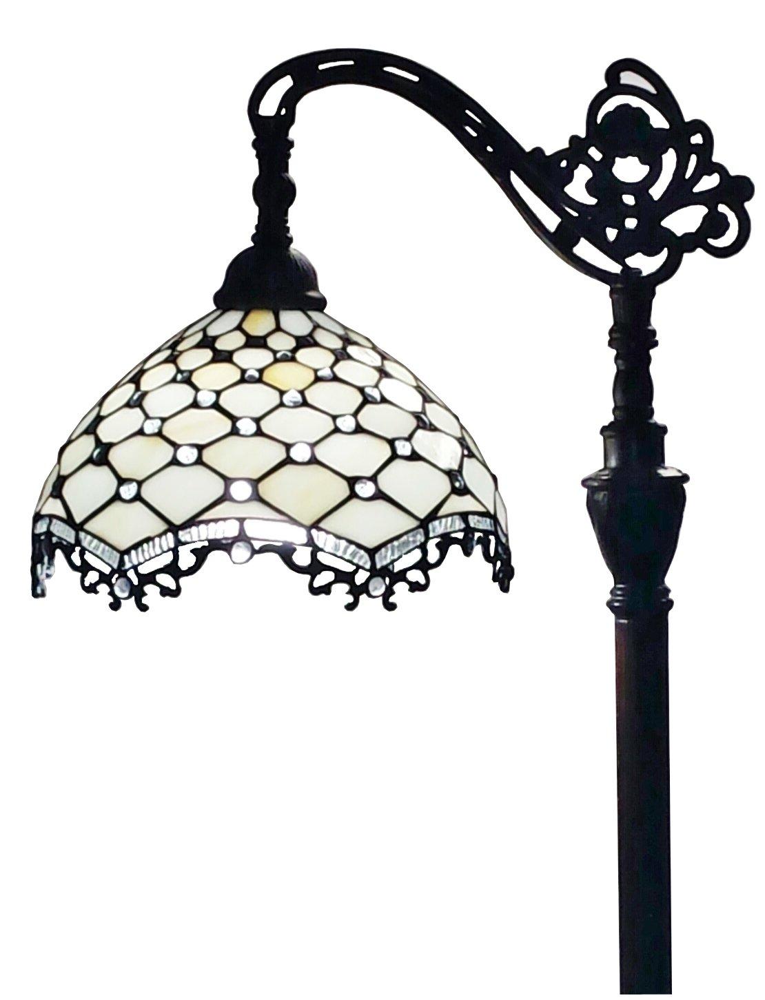 Amora Lighting Jeweled Reading Floor Lamp