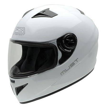 NZI 150204G113 Must White, Casque de Moto, Taille XL Blanc
