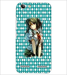 PrintDhaba Cute Animated Girl D-3587 Back Case Cover for LENOVO A6020a46 (Multi-Coloured)