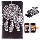 PpIiNnKk , For NOKIA Lumia 530 Case New Fashion Fancy Dream Catcher Printed PU Leather Skin Wallet Flip Stand [with Credit Card Holder] Cell Phone Cover for Nokia Lumia 530 / RM-1018 RM-1020 dual sim