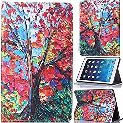 iPad Air 2,Candywe Beautiful Pattern Book Style Design Leather Folio Case for iPad Air 2 Case Cover (2014 Version) 009