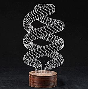 SHENNOSI® 3D Glow LED Lamp - Art Sculpture Lights Up in Produces Unique Lighting Effects and 3D visualization Amazing Optical Illusion (Spiral Shape) by SHENNOSI®