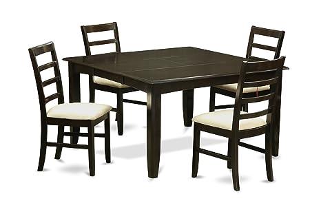 East West Furniture PARF5-CAP-C 5-Piece Dining Table Set