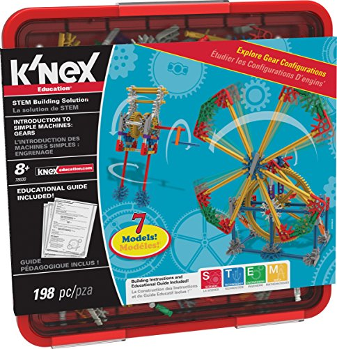 K'NEX Education - Intro to Simple Machines: Gears Set - 198 Pieces - Grades 3-5 - Engineering Education Toy