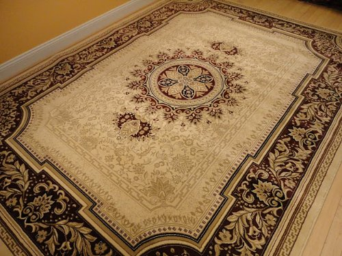Funky Geometric Cream Based Area Rug With Other Colors