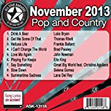 All Star Karaoke November 2013 Pop and Country Hits A (ASK-1311A)