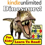 """Children's Book: """"Daring Dinosaurs! Learn About Dinosaurs While Learning To Read - Dinosaur Photos And Facts Make It Easy!"""" (Over 45+ Photos of Dinosaurs)"""
