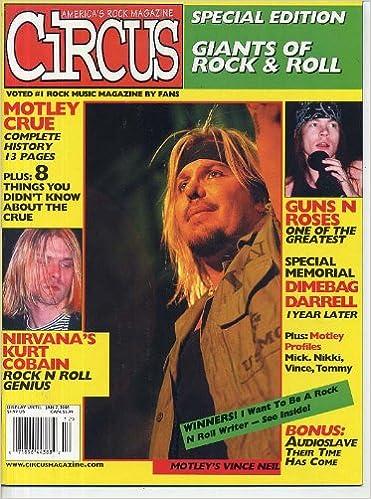 Circus Magazine MOTLEY CRUE Guns N' Roses KURT COBAIN Nirvana ...