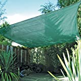 Easy Gardener 10911 Sun Sail Square Sun Shade, Green