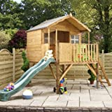14ft x 7ft Wooden Poppy Honeysuckle Tower Playhouse + Slide - Brand New 14x7 Wood Cottage Playhouses