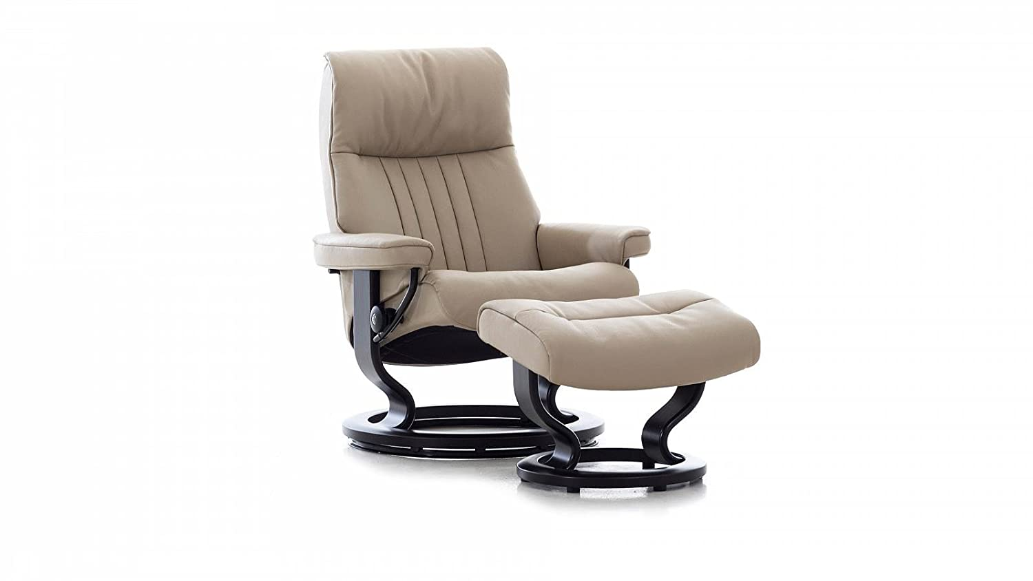 Stressless® Crown Sessel mit Hocker (M) Beige günstig günstig