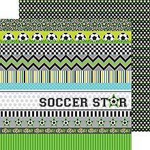 Doodlebug Designs Goal Superstar Soccer Scrapbook Paper