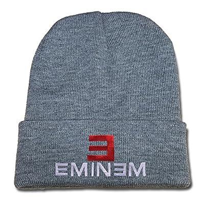 BARONL E Eminem Logo Beanie Fashion Unisex Embroidery Beanies Skullies Knitted Hats Skull Caps - Grey