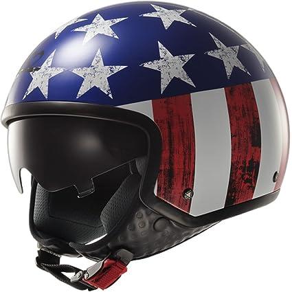 LS2 Of561 brut bleu rouge blanc moto casque