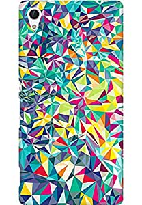 AMEZ designer printed 3d premium high quality back case cover for Sony Xperia Z4 (abstract shapes)